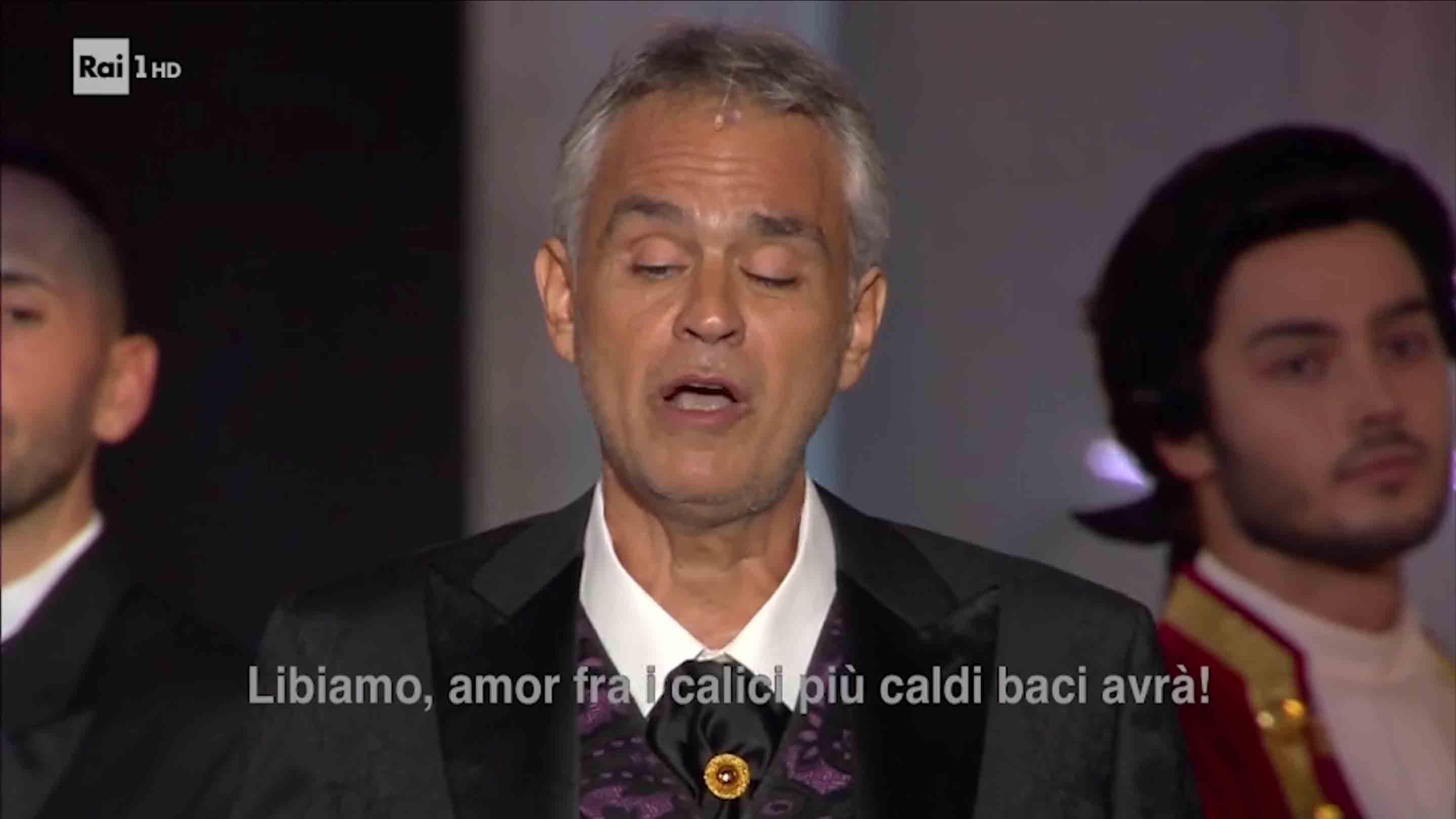 Antonio Polato - La notte di Andrea Bocelli Rai1 Libiamo - Fondazione Arena di Verona 2018