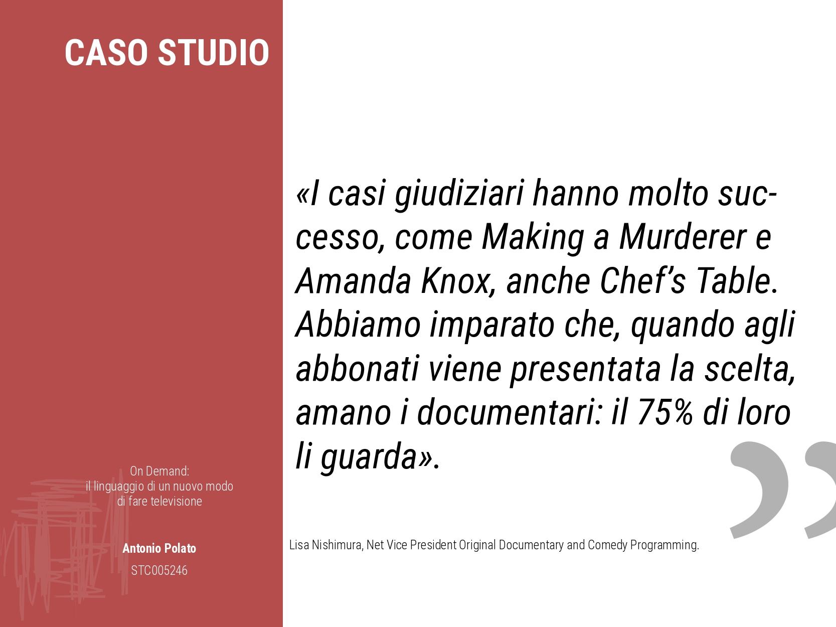 On demand il linguaggio di un nuovo modo di fare la televisione Antonio Polato documentari netflix