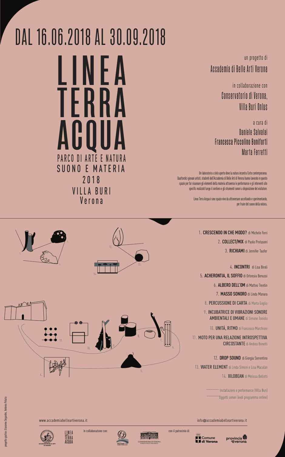 Antonio Polato Linea Terra Acqua 2018 Accademia di Belle Arti di Verona manifesto