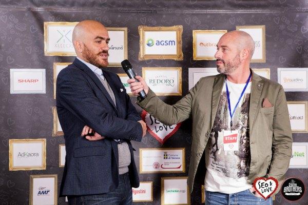 Antonio Polato pannello sfondo interviste Seo&Love 2018